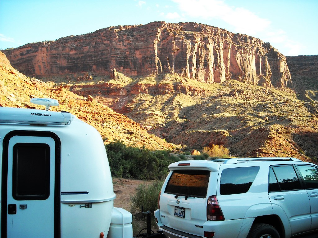 Camping along the Colorado River in 2010.