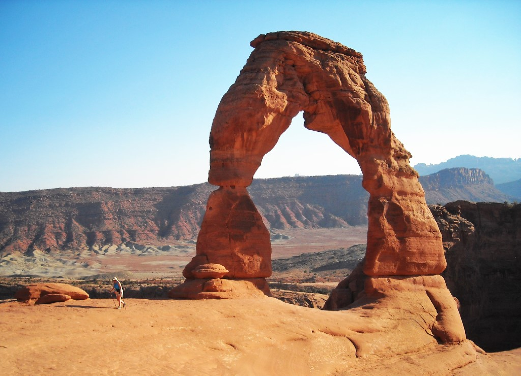 Delicate Arch at Arches National Park.
