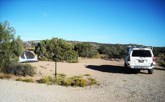 A campsite at Horse Thief Campground.