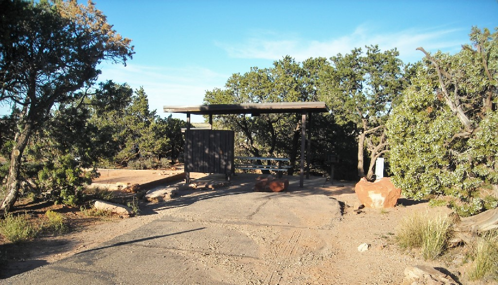 A campsite at Dead Horse Point State Park.