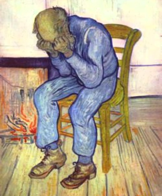 Vincent van Gogh, whose depressions and mood swings may have been prompted by the toxic substances in the paints he used. Van Gogh stored his many paintings before they dried in his poorly ventilated sleeping room.
