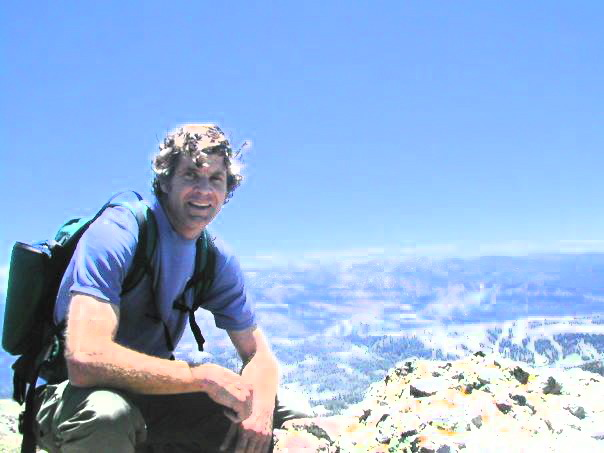 Erik hikes to the top of Mt. Judah near Lake Tahoe, feeling happy and energetic in the clean air.