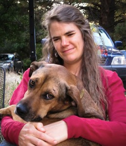 Julie Rehmeyer with her good friend Frances. The dog was a particularly good companion during the time when Julie was very sick.