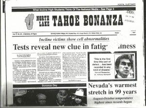 A 1987 Tahoe newspaper article about the epidemic.
