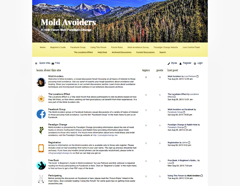 Mold Avoiders A New Recovery Help Forum For Toxic Mold Illness